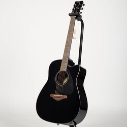 Yamaha FGX800C Dreadnought Cutaway Acoustic-Electric Guitar - Black