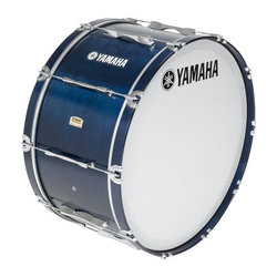 Yamaha MB-8316 Field-Corps Series Marching Bass Drum - Blue Forest