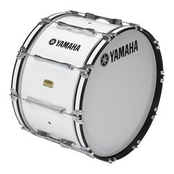 Yamaha MB-8318 Field-Corps Series Marching Bass Drum - White