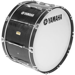 Yamaha MB8300 Field-Corps Marching Bass Drum - 26 x 14, Black