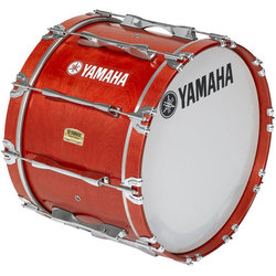 Yamaha MB8326 Field-Corps Marching Bass Drum - 26, Red