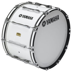 Yamaha MB8326 Field-Corps Marching Bass Drum - 26, White