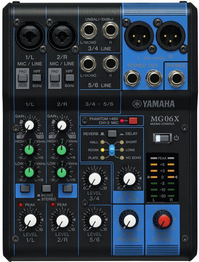 View larger image of Yamaha MG06X 6-Channel Mixer with FX