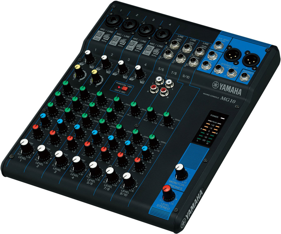 View larger image of Yamaha MG10 10-Channel Mixer