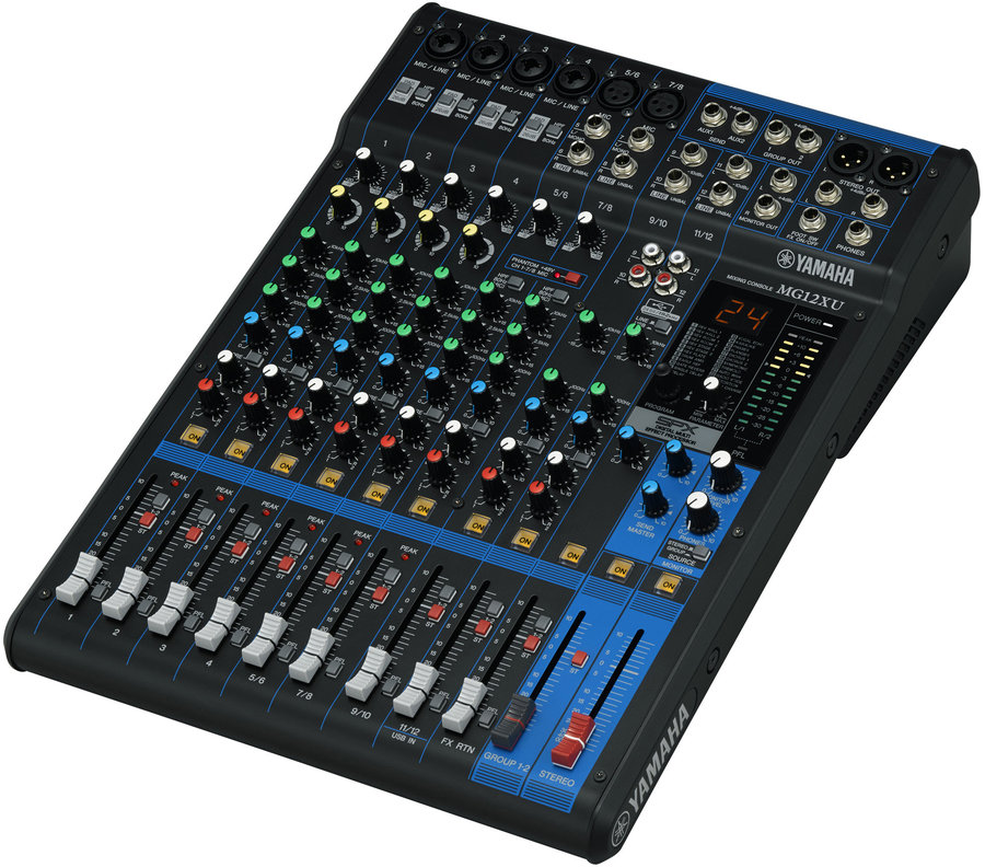 View larger image of Yamaha MG12XU 12-Channel Mixer with FX and USB