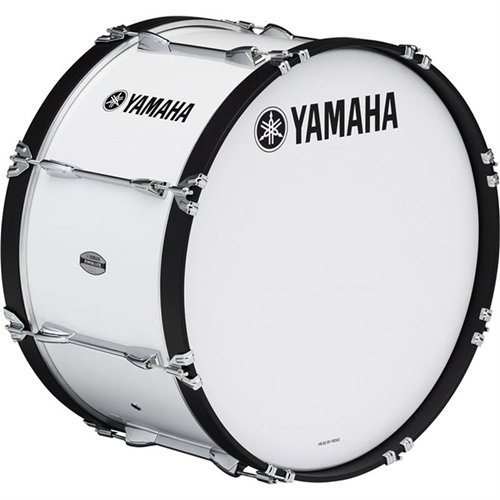 View larger image of Yamaha MS-6300 Power-Lite Marching Bass Drum - 24, White