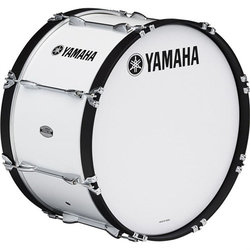 Yamaha MS-6300 Power-Lite Marching Bass Drum - 24, White