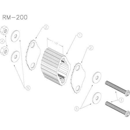 View larger image of Yamaha RM200 Marching Quad Spacer