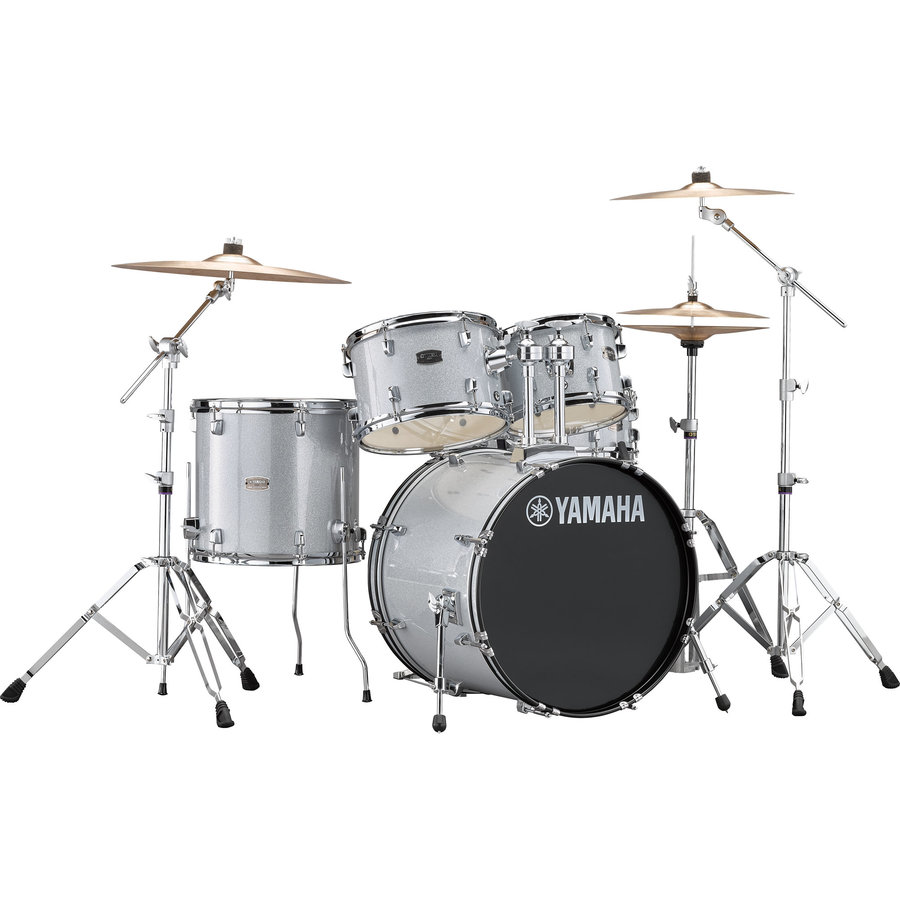 View larger image of Yamaha Rydeen 5-Piece Drum Set - 20/14SD/14FT/12/10, Hardware, Cymbals, Throne, Silver Glitter