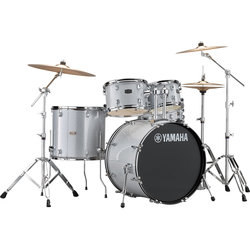 Yamaha Rydeen 5-Piece Drum Kit - 22/14SD/16FT/12/10, Hardware, Cymbals, Throne, Silver Glitter