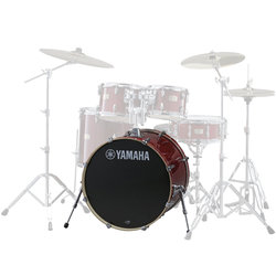 "Yamaha Stage Custom Birch Bass Drum - 22""x17"", Cranberry Red"