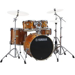 Yamaha Stage Custom Birch 5-Piece Drum Kit - 20/14SD/14FT/12/10, 700 Series Hardware, Honey Amber