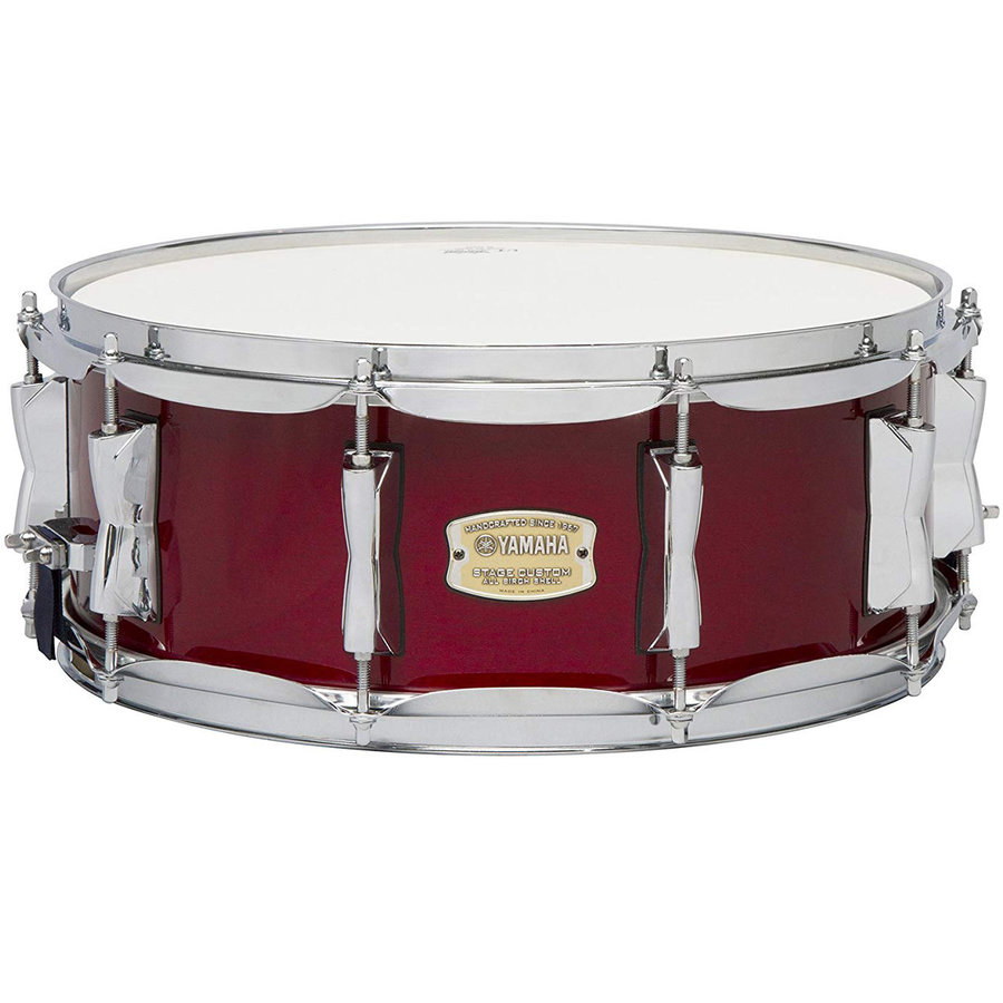 View larger image of Yamaha Stage Custom Birch 5-Piece Shell Pack - 20/14SD/14FT/12/10, Cranberry Red