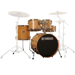 Yamaha Stage Custom Birch 5-Piece Shell Pack - 20/14SD/14FT/12/10, Natural Wood