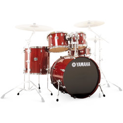 Yamaha Stage Custom Birch 5-Piece Shell Pack - 22/14SD/16FT/12/10, Cranberry Red