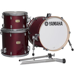Yamaha Stage Custom Bop 3-Piece Shell Pack - 18/14FT/12, Cranberry Red