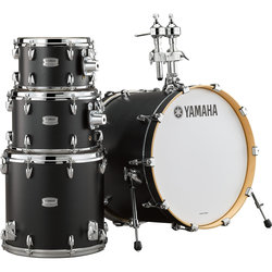 Yamaha Tour Custom 4-Piece Drum Kit - 20/14FT/12/10, Hardware, Licorice Satin