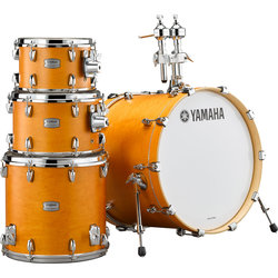 Yamaha Tour Custom 4-Piece Drum Kit - 22/16FT/12/10, Hardware, Caramel Satin