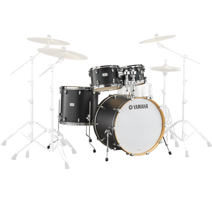 View larger image of Yamaha Tour Custom 4-Piece Shell Pack - 20/14FT/12/10, Licorice Satin