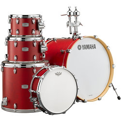 Yamaha Tour Custom 5-Piece Drum Kit - 20/14SD/14FT/12/10, Hardware, Candy Apple Satin