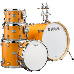 Yamaha Tour Custom 5-Piece Drum Kit - 22/14SD/16FT/12/10, Hardware, Caramel Satin