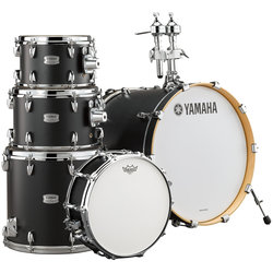 Yamaha Tour Custom 5-Piece Drum Kit - 22/14SD/16FT/12/10, Hardware, Licorice Satin