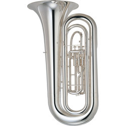 Yamaha YBB-201MS Marching Tuba - Silver Plated