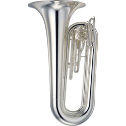 Yamaha YBB-202MS Marching Tuba - Silver Plated