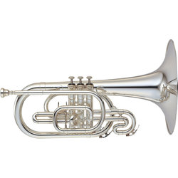Yamaha YMP-204MS Mellophone - Silver Plated