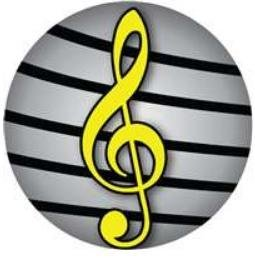 View larger image of Yellow G-Clef Pin - 1-1/4