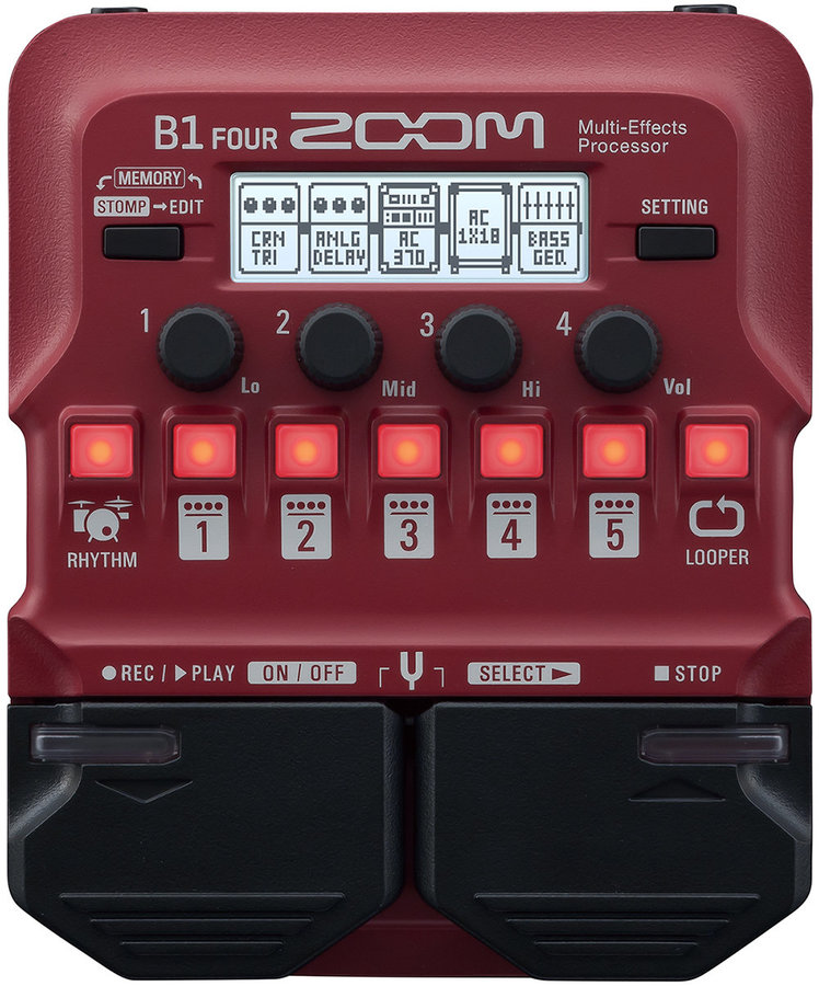 View larger image of Zoom B1 Four Multi-Effects Pedal
