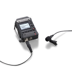 Zoom F1 Field Recorder with Lavalier Mic
