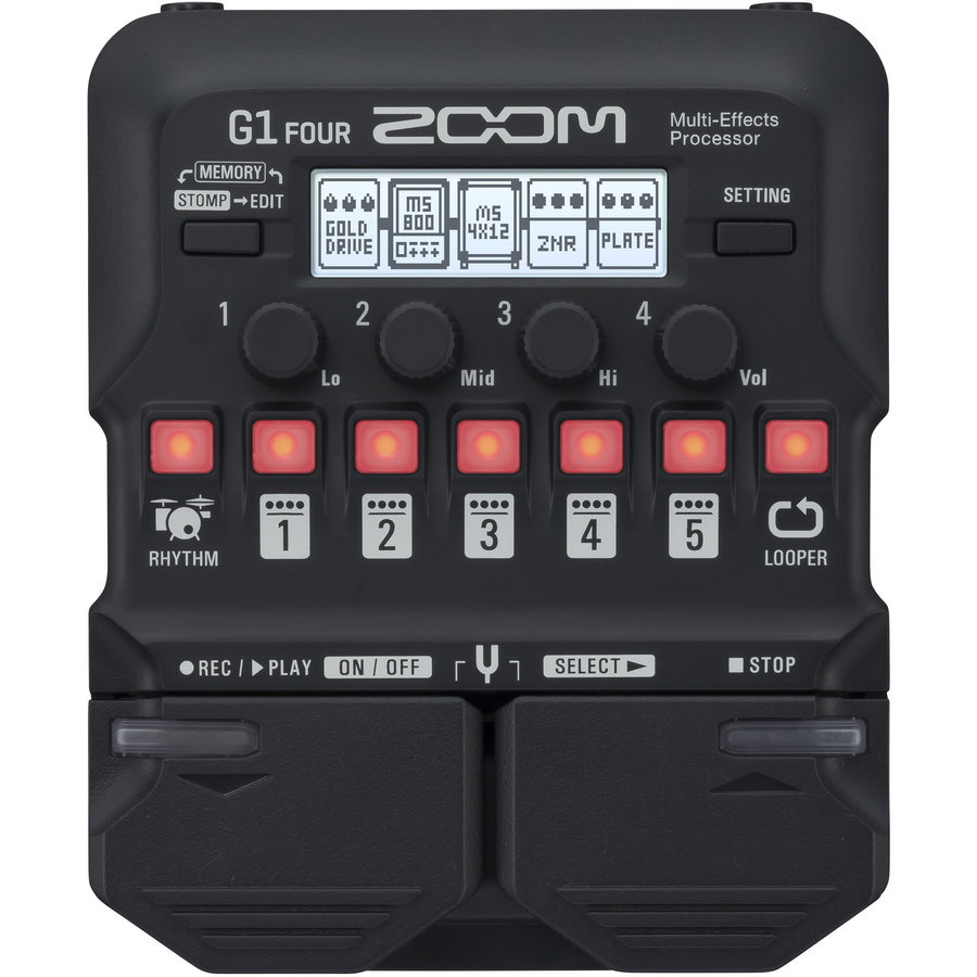 View larger image of Zoom G1 Four Guitar Multi-Effects Processor