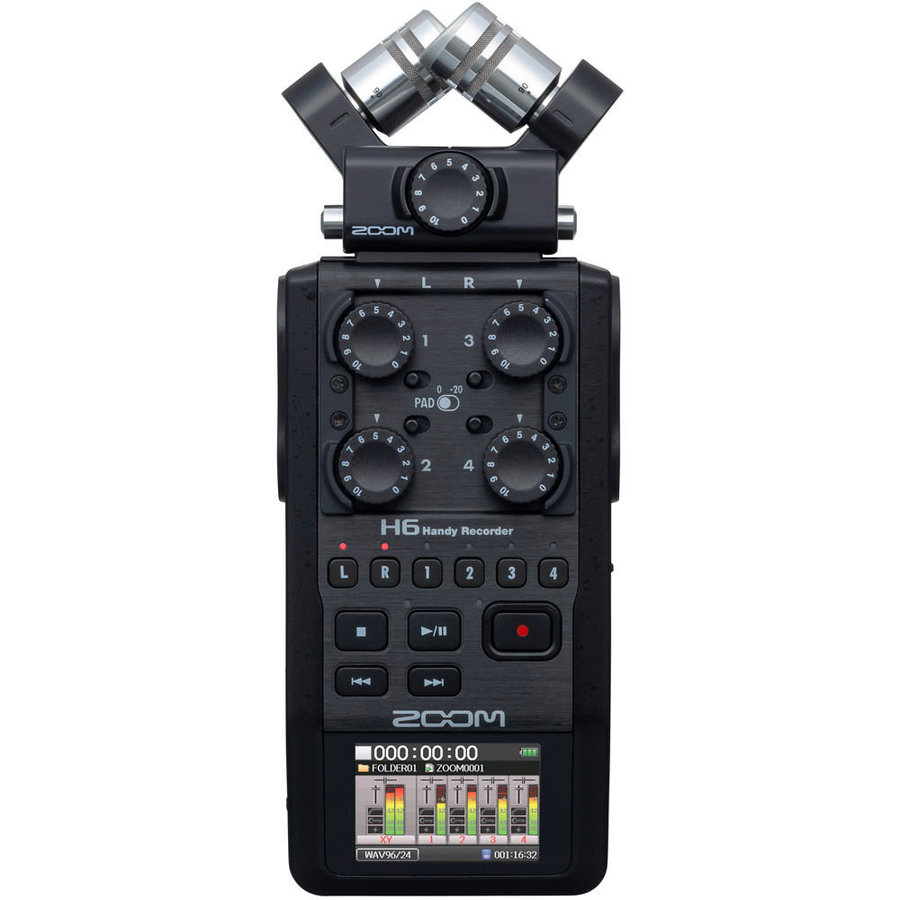 View larger image of Zoom H6 Handy Recorder - Black