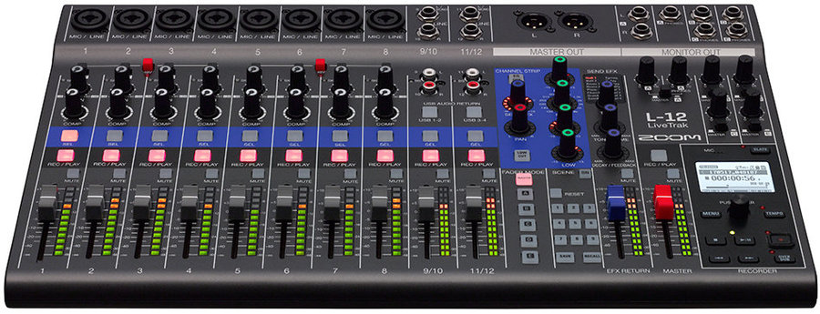 View larger image of Zoom LiveTrak L-12 12-Channel Mixer/Recorder